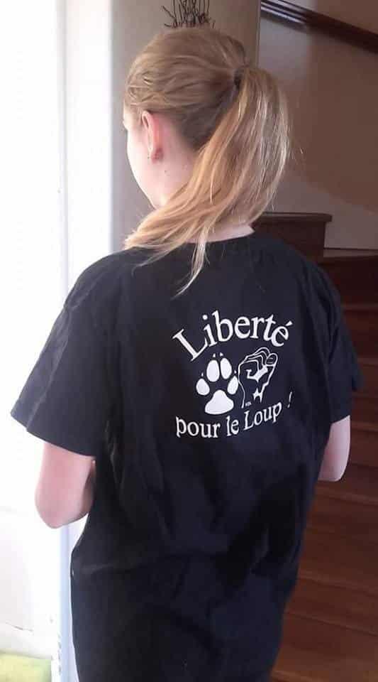 T-shirt noir Femme Liberté pour le Loup !
