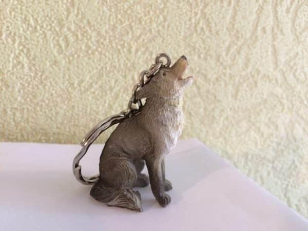 Porte-clés Loup hurlant