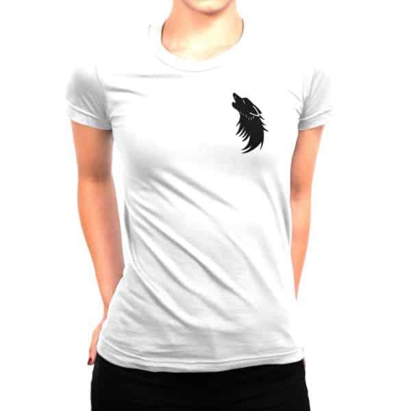 T-shirt blanc Femme Ombre Louve 2
