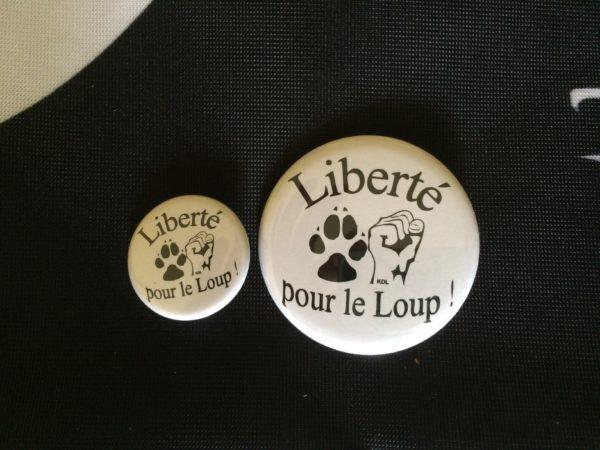 Badge Liberté pour le Loup !