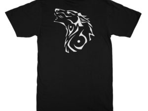 T-shirt noir Loup tribal