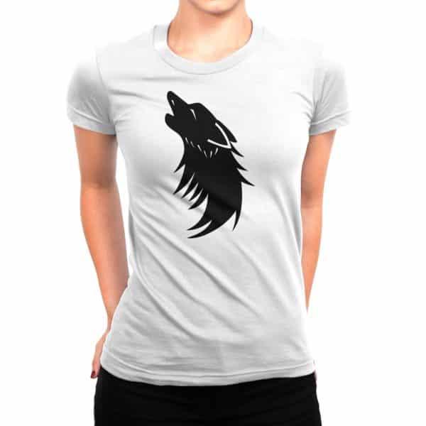 T-shirt blanc Femme Ombre Louve