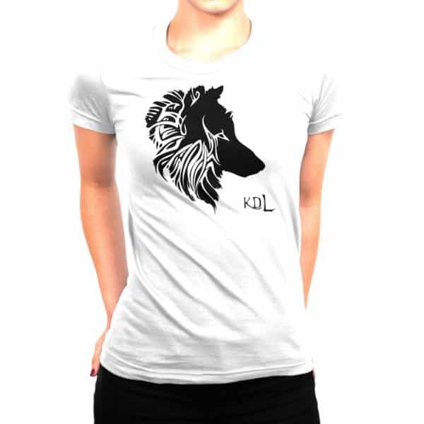 T-shirt blanc Femme Louve KDL