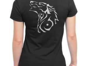 T-shirt noir Femme Louve tribale