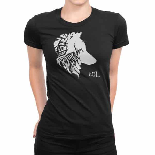 T-shirt noir Femme Louve KDL