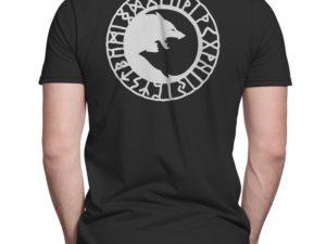 T-shirt noir Loups et Runes