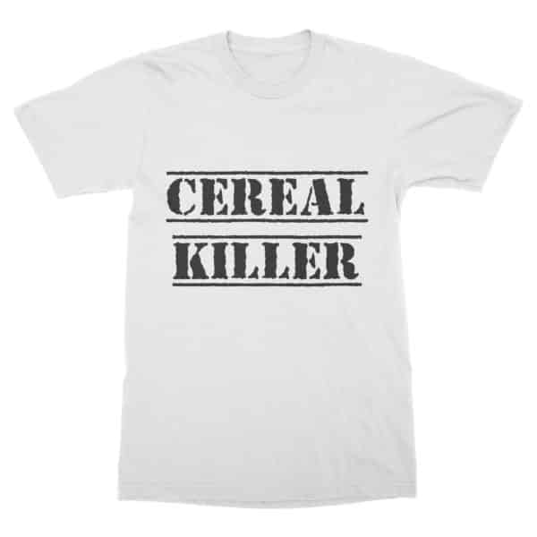 T-shirt coton bio blanc Cereal Killer