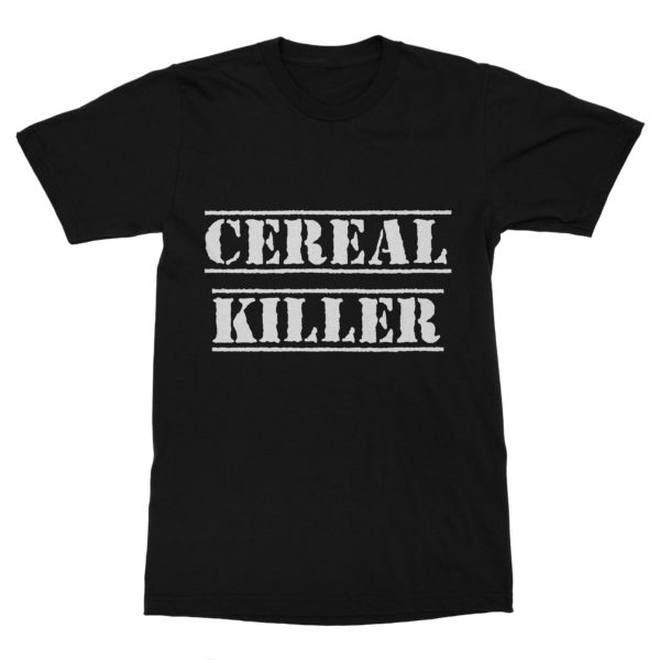 T-shirt coton bio noir Cereal Killer
