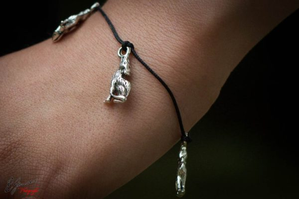 Bracelet Loups argent tibétain
