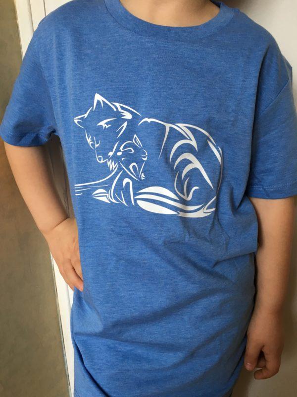 T-shirt bio enfant Louve et Louveteau