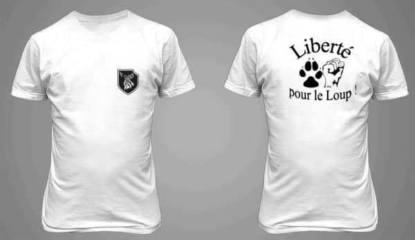 T-shirt blanc homme Liberté pour le Loup !