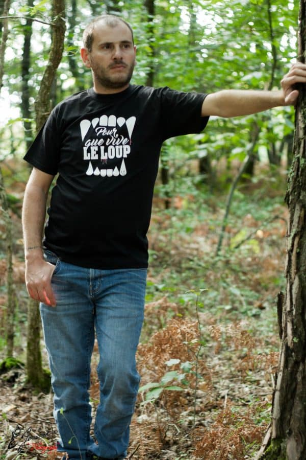 T-shirt noir homme Pour que vive le Loup