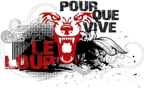 T-shirt blanc homme Pour que vive le loup