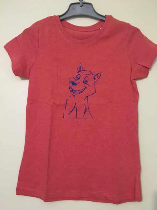 T-shirt bio fille Louveteau