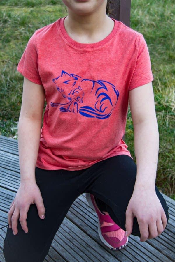 T-shirt bio fille Louve et Louveteau