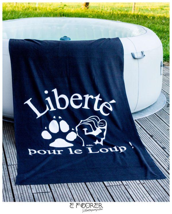 Drap de bain Liberté pour le Loup !