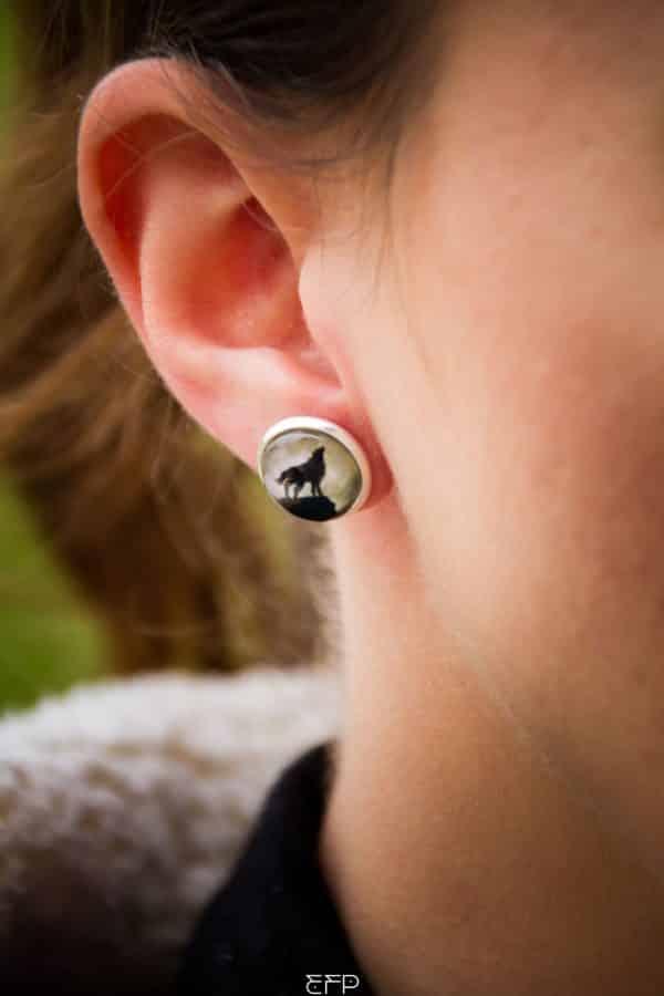 Boucles oreille Louve