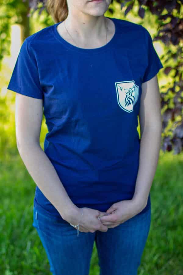 t-shirt-bleu-femme-liberte-loup